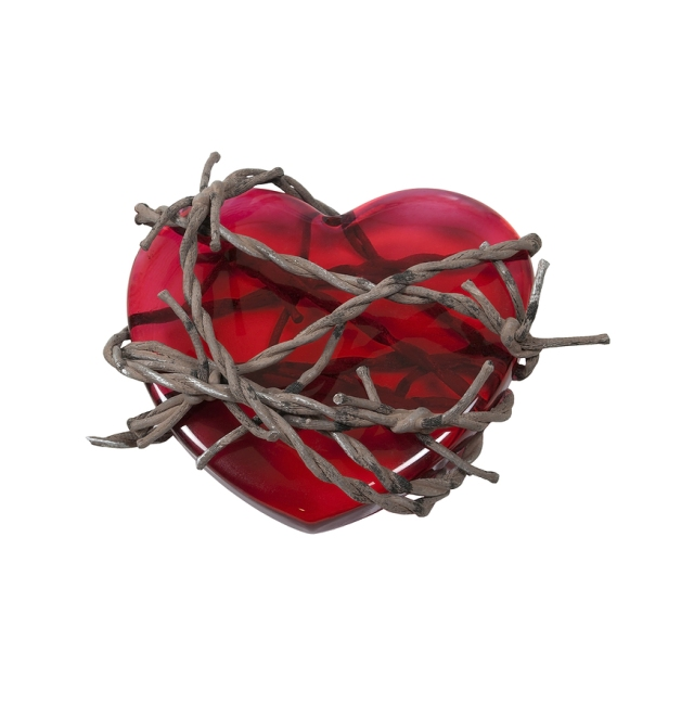 heart in barbed wire
