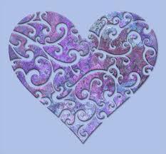 purple blue heart