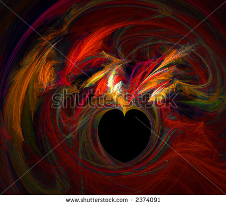 swirling red heart