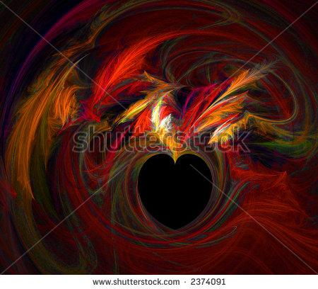 swirling red heart