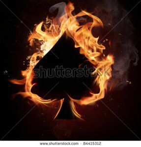 burning ace of spades